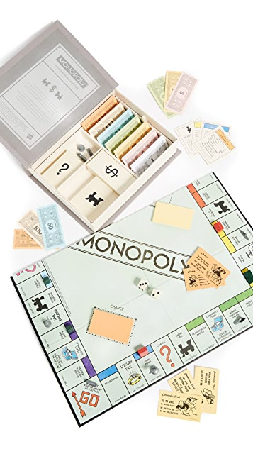 East Dane Gifts Monopoly Vintage Bookshelf Edition