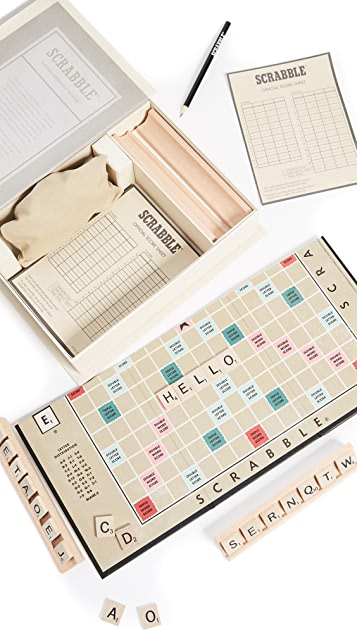 East Dane Gifts Scrabble Vintage Bookshelf Edition