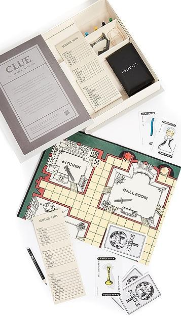 Подарки East Dane Винтажное издание игры «Clue» Bookshelf