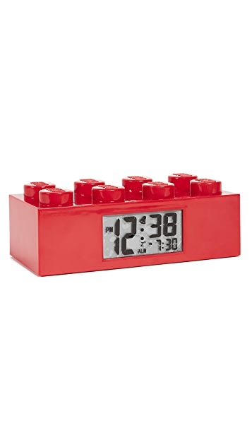 East Dane Gifts Lego Red Brick Clock