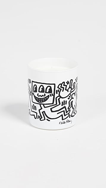 East Dane Gifts Keith Haring Black Drawing Candle