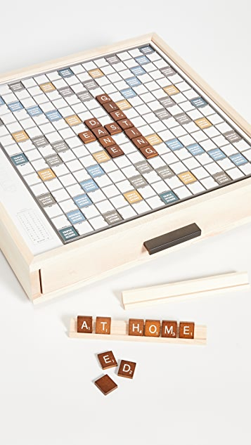 East Dane Gifts Scrabble Luxe Maple Edition