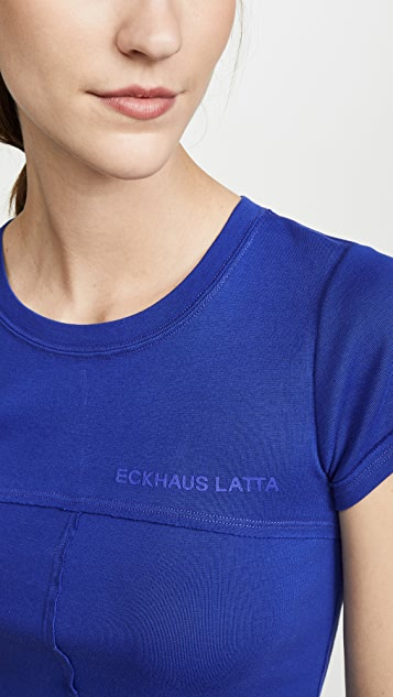 Eckhaus Latta Lapped Baby Tee