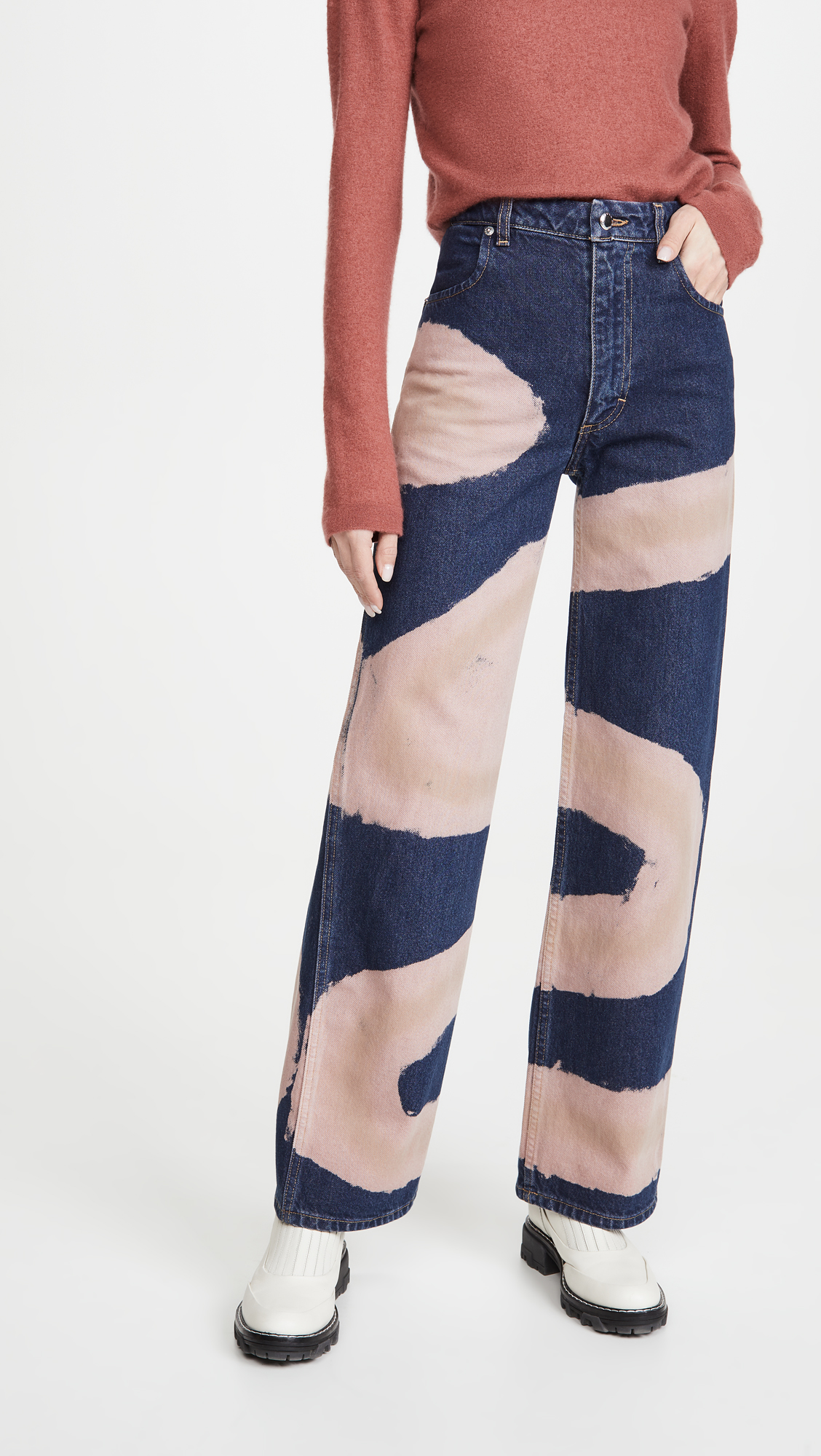Jeans of the Week: Eckhaus Latta Wide-Leg Jeans in Blue Chemtrail