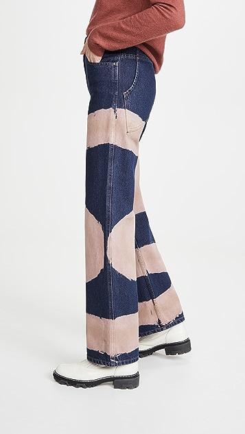 Eckhaus Latta 阔腿牛仔裤