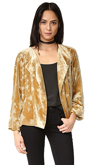 Elizabeth and James Audrey Raglan Sleeve Velvet Jacket
