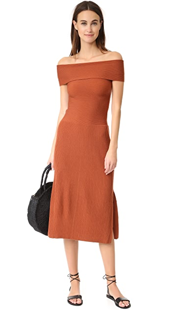 Elizabeth and James Marbella Off Shoulder Knit Dress