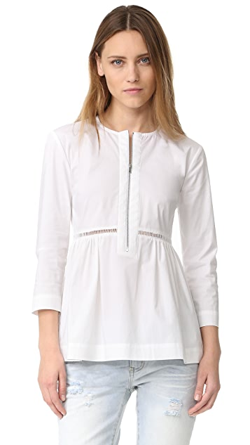 Elizabeth and James Jacqueline Long Sleeve Gathered Top