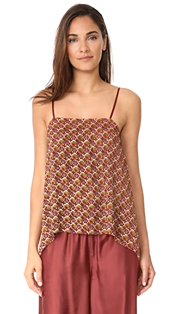 Elizabeth and James Heather Draped Layered Top