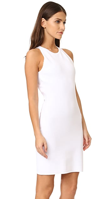 Elizabeth and James Capri Split Shoulder Picot Dress