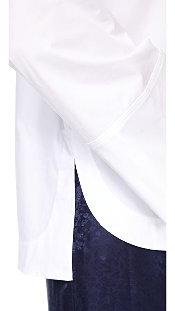 Elizabeth and James Norman Button Down Wide Sleeve Top