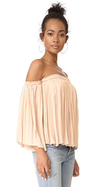 Elizabeth and James Emelyn Pleated Flare Sleeve Top