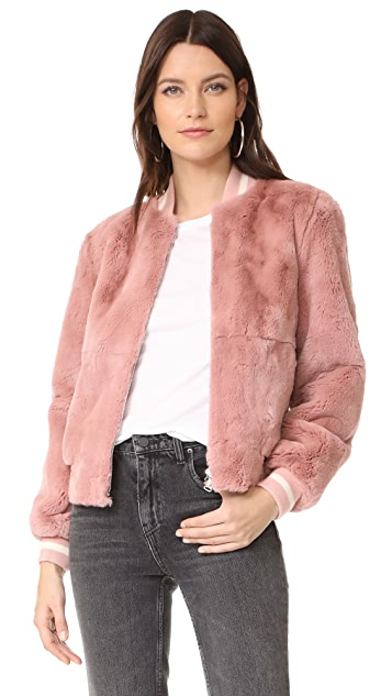 Elizabeth and James Ellington Fur Bomber Jacket