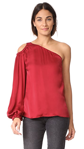 Elizabeth and James Denissa One Shoulder Top - Cayenne