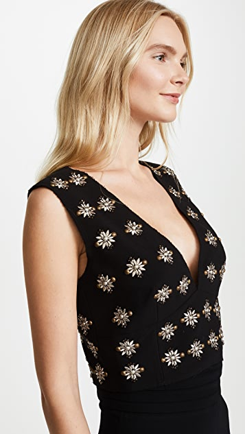Elizabeth and James Leola Embellished Mia Crop Top