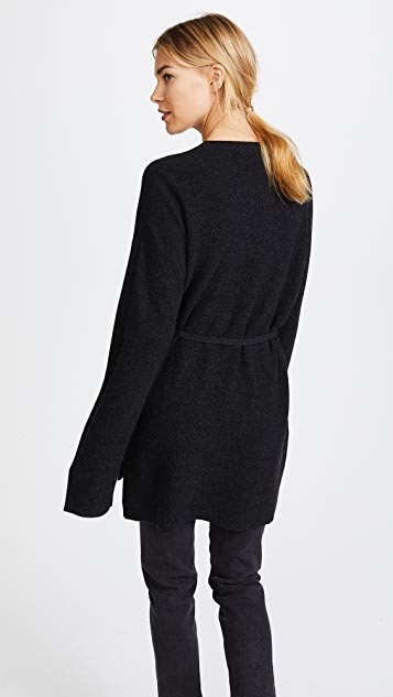 Elizabeth and James Slouchy Crew Neck Rib Sweater
