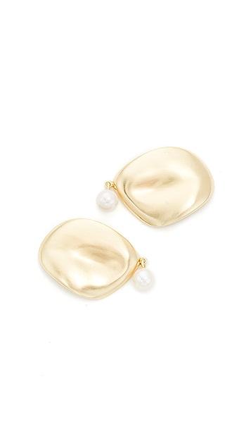Elizabeth and James Plumeria Earrings