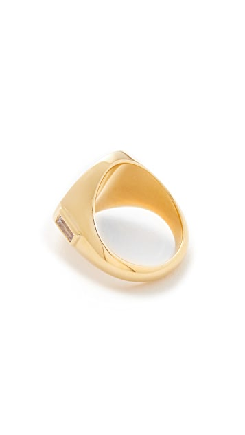 Elizabeth and James Serra Signet Ring