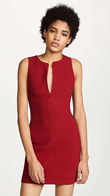 Elizabeth and James Cullin Dress With Zip Placket - Ruby