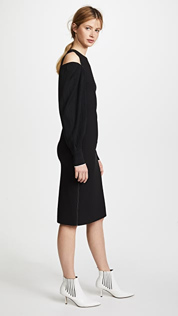 Elizabeth and James Shiloh Knit Sleeve Combo Fitted Dress
