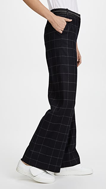 Elizabeth and James Hansel Window Pane Straight Leg Trousers