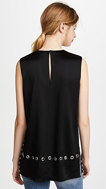 Elizabeth and James Khan Top with Grommet Detail