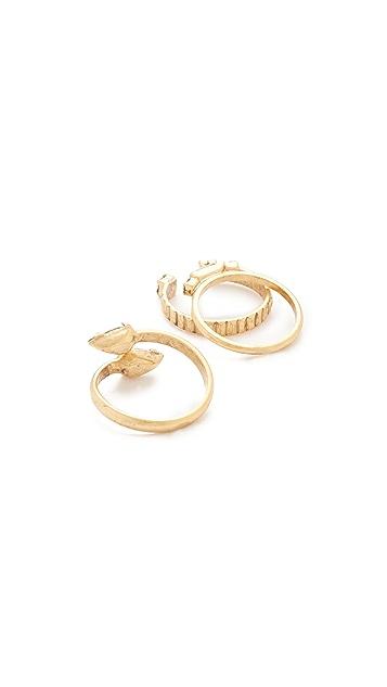 Elizabeth Cole Wraparound Ring Set