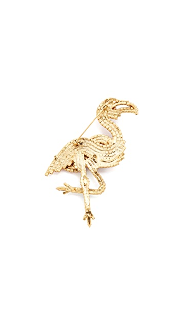 Elizabeth Cole Flamingo Pin