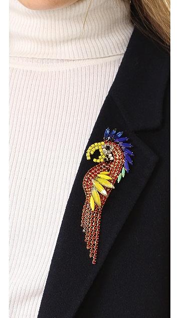 Elizabeth Cole Parrot Pin