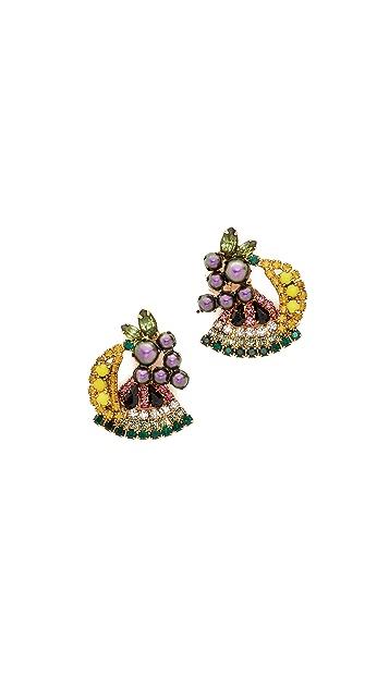 Elizabeth Cole Petite Fruit Salad Earrings
