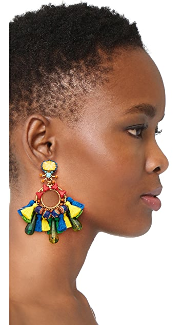 Elizabeth Cole Fan Earrings