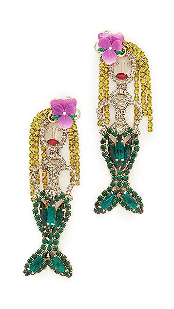Elizabeth Cole Mermaid Earrings
