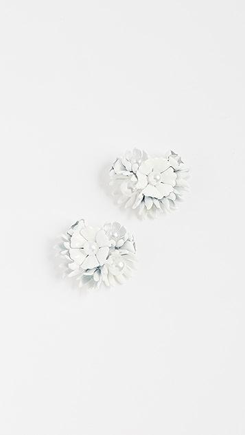 Elizabeth Cole Ashley Earrings - White