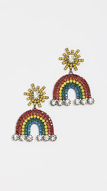 Elizabeth Cole Rainbow Earrings