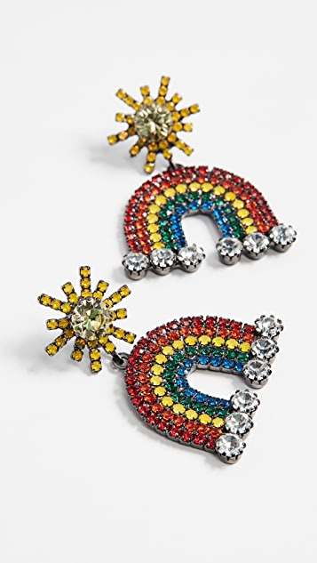 Elizabeth Cole Rainbow Earrings