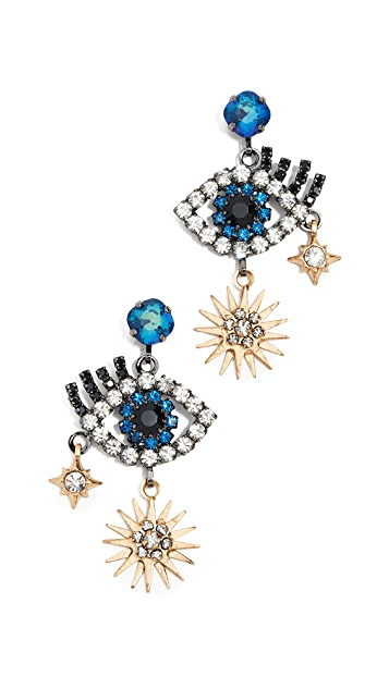 Elizabeth Cole Hamsa Earrings