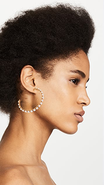 Elizabeth Cole Pearlie Earrings