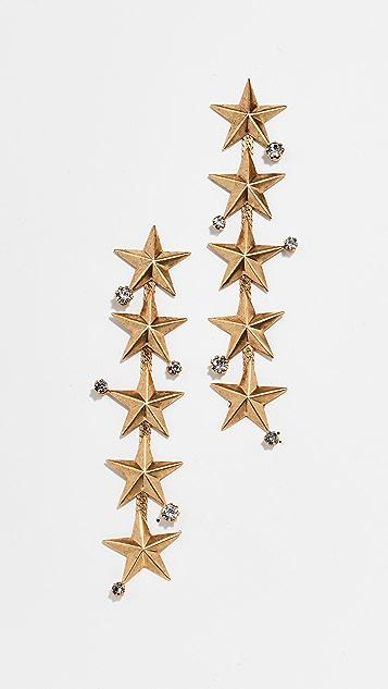 Elizabeth Cole Star Drop Earrings