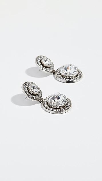 Elizabeth Cole Double Drop Earrings