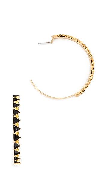 Elizabeth Cole Bernadette Hoop Earrings