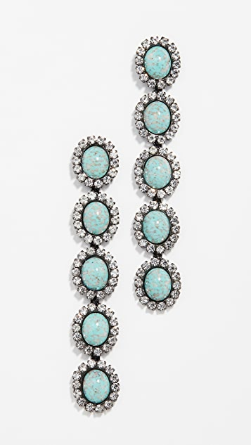Elizabeth Cole Von Linear Drop Earrings