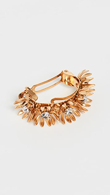 Golden Floral Ponytail Holder by Elizabeth Cole