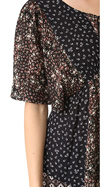 Ella Moss Patchwork Floral Dress
