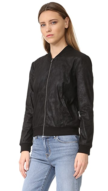 Ella Moss Faux Leather Bomber