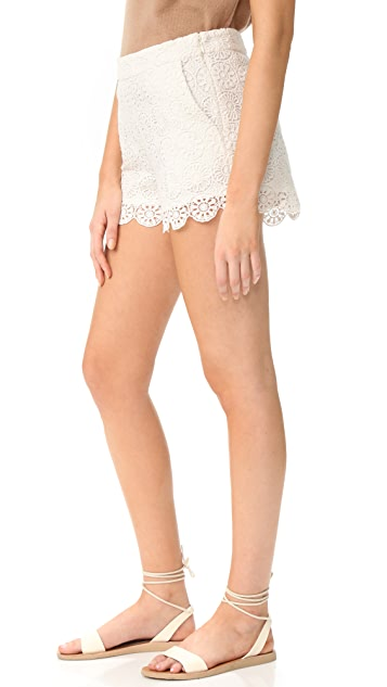 Ella Moss Medallion Crochet Shorts