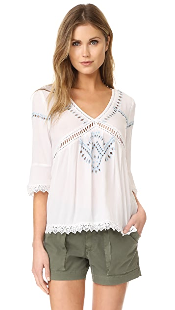 Ella Moss Broderie Anglaise Blouse