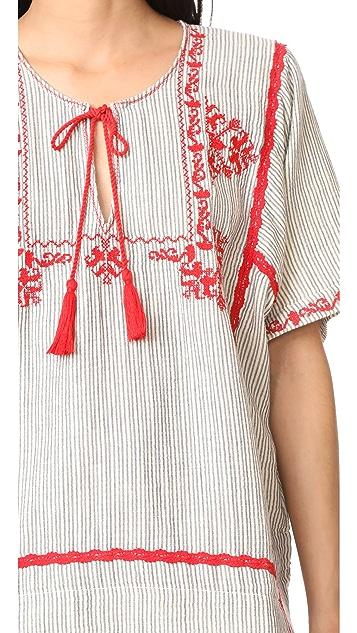 Ella Moss Marini Embroidered Blouse