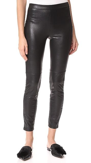 Ella Moss Faux Leather Leggings - Black