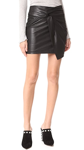 Ella Moss Faux Leather Skirt