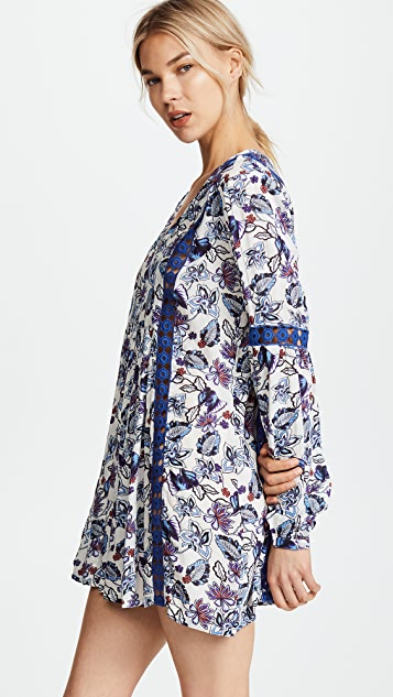 Ella Moss Folktale Floral Tunic Cover Up